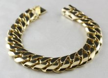 18K SOLID YELLOW GOLD ITALY BRACELET