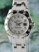 A ROLEX 18K WHITE GOLD LADY - DATEJUST PEARLMASTER - 80319
