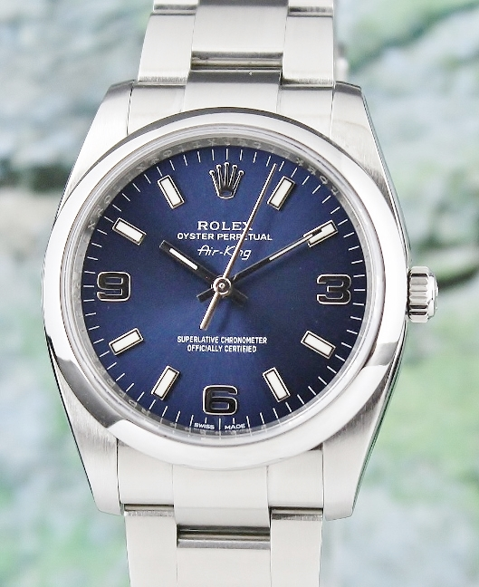 ROLEX MEN SIZE STAINLESS STEEL OYSTER PERPETUAL / 114200