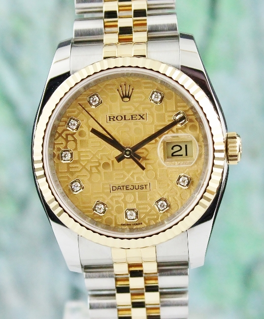 LIKE NEW UNPOLISHED ROLEX MEN SIZE OYSTER PERPETUAL DATEJUST / 116233