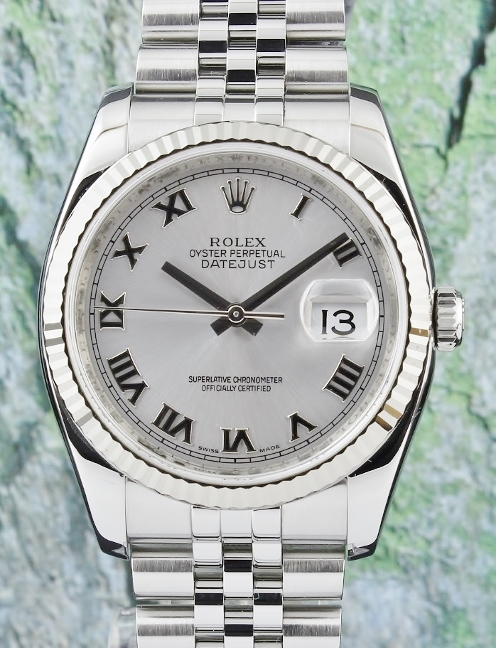 A ROLEX MEN SIZE DATEJUST OYSTER PERPETUAL - 116234
