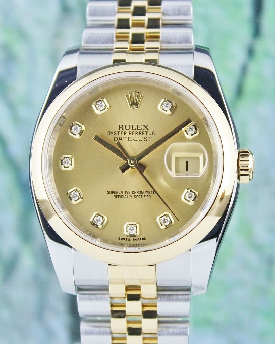 A ROLEX MEN SIZE OYSTER PERPETUAL DATEJUST / 116203