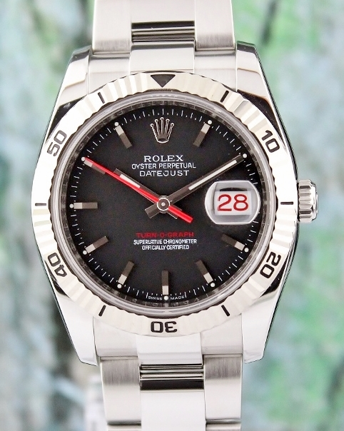 ROLEX DATEJUST MEN OYSTER PERPETUAL TURN-O-GRAPH - 116264