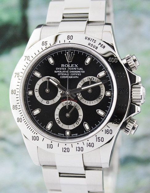 LIKE NEW ROLEX MAN SIZE STAINLESS STEEL DAYTONA COSMOGRAPH - 116520 / CERT