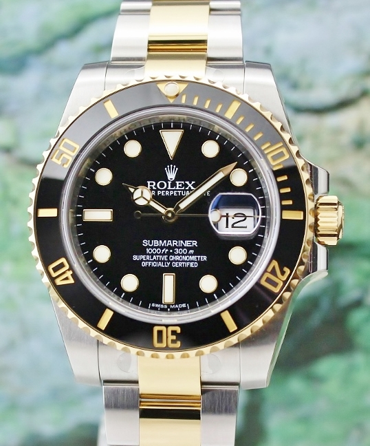 UNPOLISHED ROLEX OYSTER PERPETUAL DATE CERAMIC BEZEL SUBMARINER/ 116613LN [DUPLICATE]