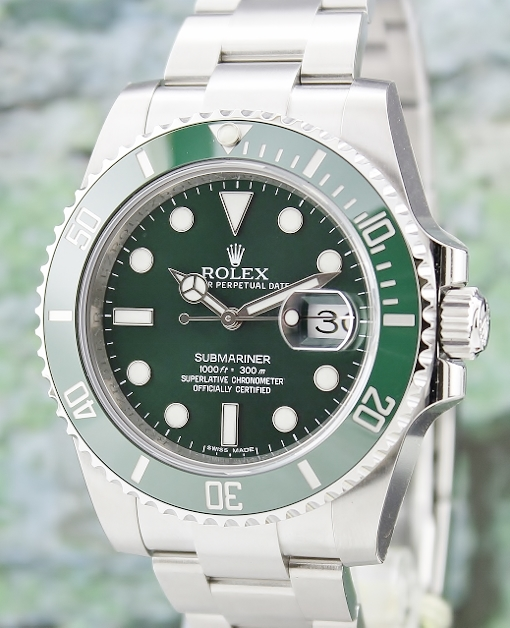 "ROLEX ""GREEN HULK"" CERAMIC BEZEL SUBMARINER / 116610LV"