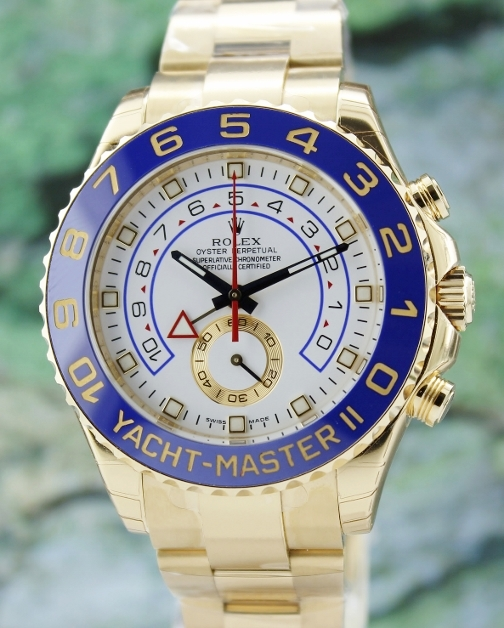 UNPOLISHED ROLEX 18K YELLOW GOLD YACHTMASTER II / 116688