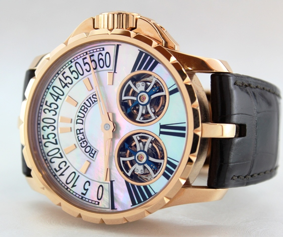 "ROGER DUBUIS PINK GOLD ""EXCALIBUR DOUBLE TOURBILLON"""