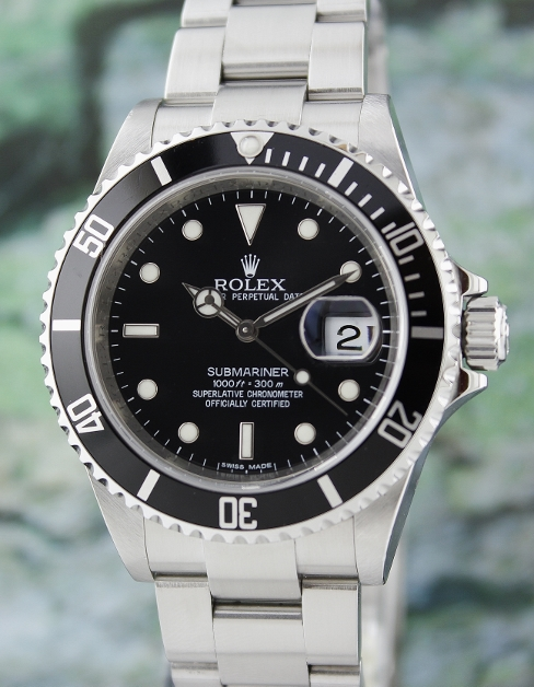 UNPOLISHED MINT ROLEX OYSTER PERPETUAL DATE / SUBMARINER / 16610 T