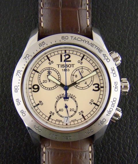 TISSOT MEN STEEL CHRONOGRAPH / CERT