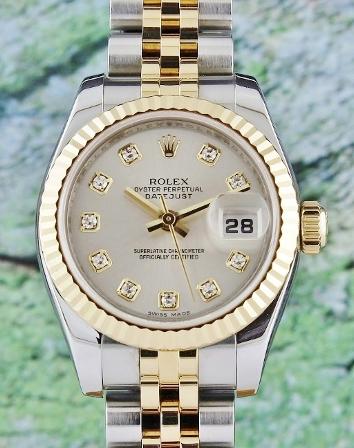 UNPOLISHED ROLEX LADY SIZE OYSTER PERPETUAL DATEJUST - 179173
