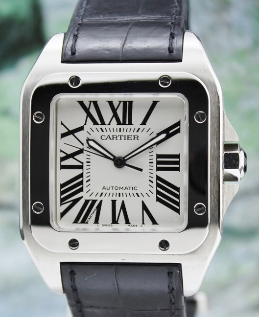 CARTIER SANTOS 100 XL STAINLESS STEEL AUTOMATIC / 2656