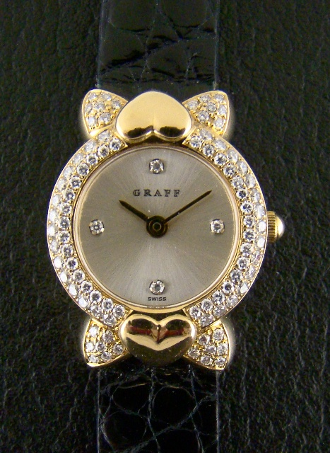 18K SOLID GOLD GRAFF DIAMOND LADY WATCH