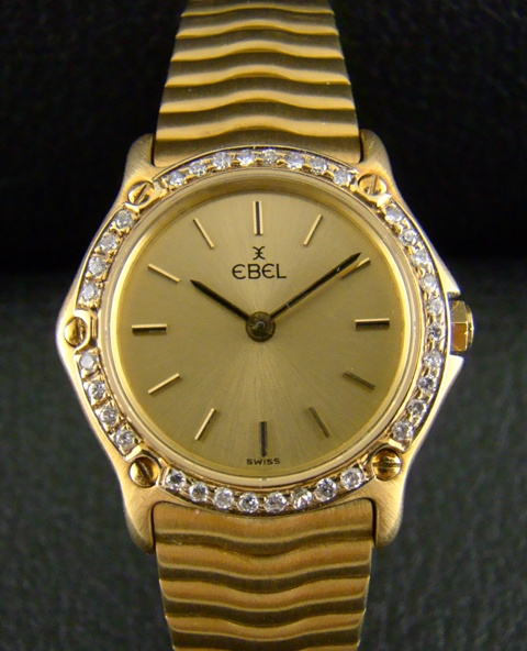 AN EBEL LADY 18K SOLID GOLD WATCH