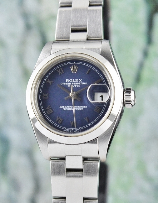 ROLEX LADY SIZE STAINLESS STEEL OYSTER PERPETUAL DATEJUST / 69160