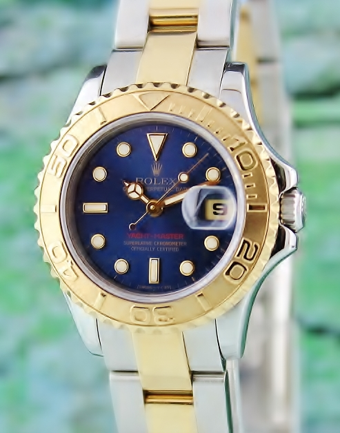 A ROLEX LADY SIZE OYSTER PERPETUAL DATE YACHT-MASTER ROLESIUM / 69623