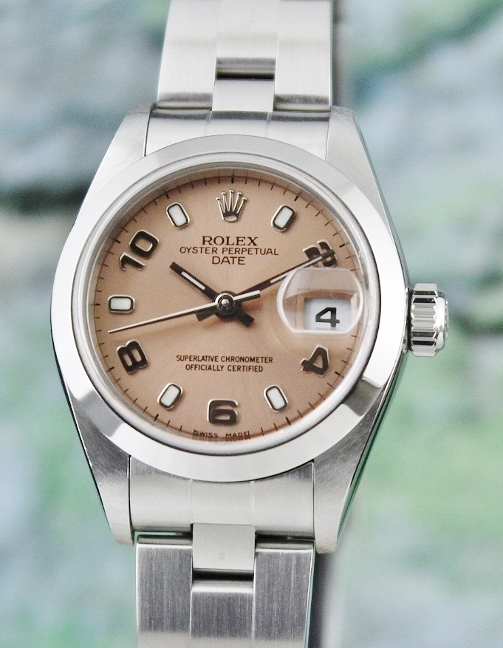 ROLEX LADY SIZE STAINLESS STEEL OYSTER PERPETUAL DATEJUST / 79160