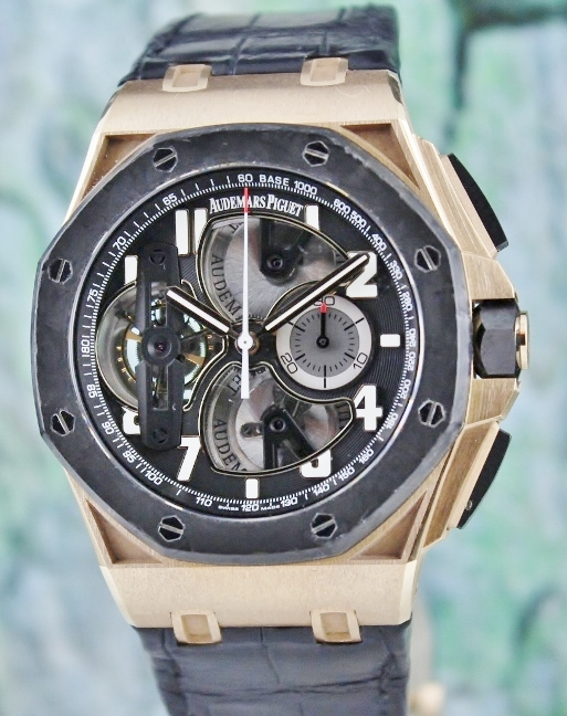 AP CONCEPT TOURBILLON CHRONOGRAPH 18K ROSE GOLD ROYAL OAK OFFSHORE / 26288Of.OO.D002CR.01