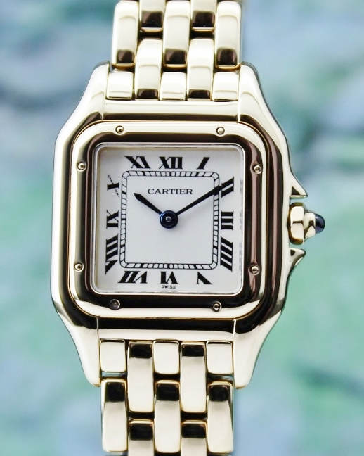 A Cartier Lady Size 18K Yellow Gold Panthere Quartz Watch