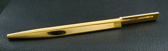 BVLGARI 18K GOLD PLATED BALL PEN