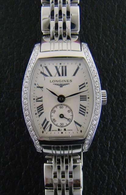 LONGINES EVIDENZA LADY DIAMOND STEEL WATCH