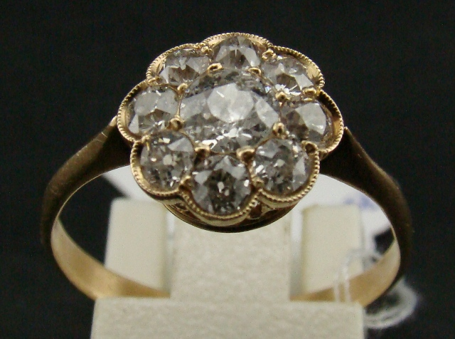 Antique 20k Gold Rose Cut Ring