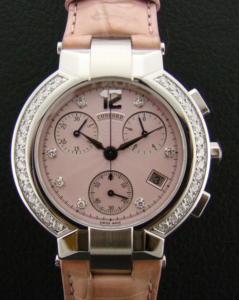 CONCORD CHRONO STEEL WITH ORIGINAL DIAMOND SETTING