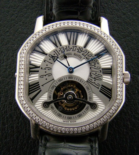 "DANIEL ROTH 18K WHITE GOLD ""TOURBILLON"""