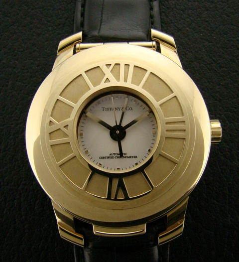 "TIFFANY 18K GOLD HUNTER WATCH ""ATLAS"" COLLECTION"