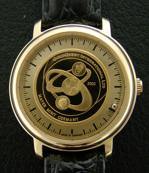 A Gold Crest Watch With Pure Gold Dial - LADY
