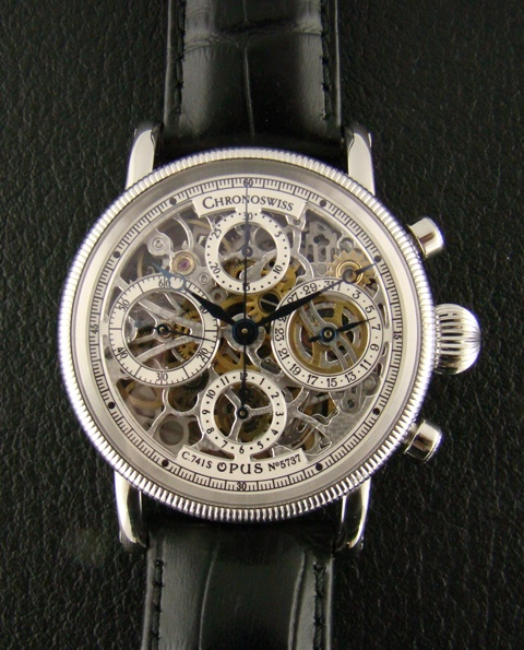 "CHRONOSWISS ""OPUS"" CHRONOGRAPH IN STEEL"