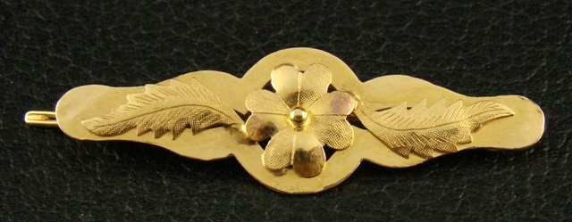 Antique 20K Gold Hair Clip