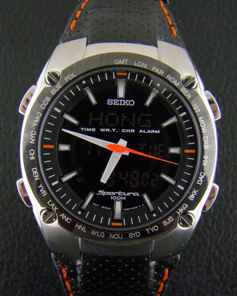 A SEIKO SPORTURA KINETIC CHRONOGRAPH