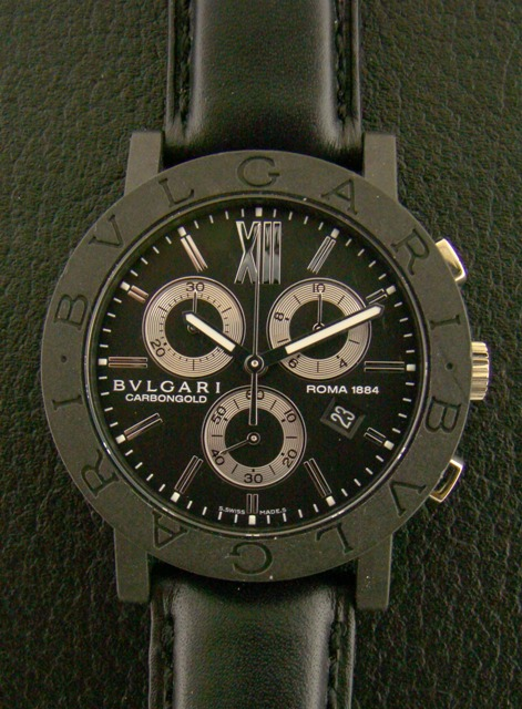 "BVLGARI ""CARBONGOLD chronograph 125th ROMA "" WATCH"