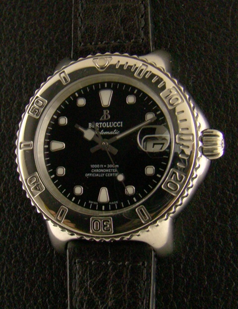Bertolucci Diver Date Stainless Steel Men's Watch