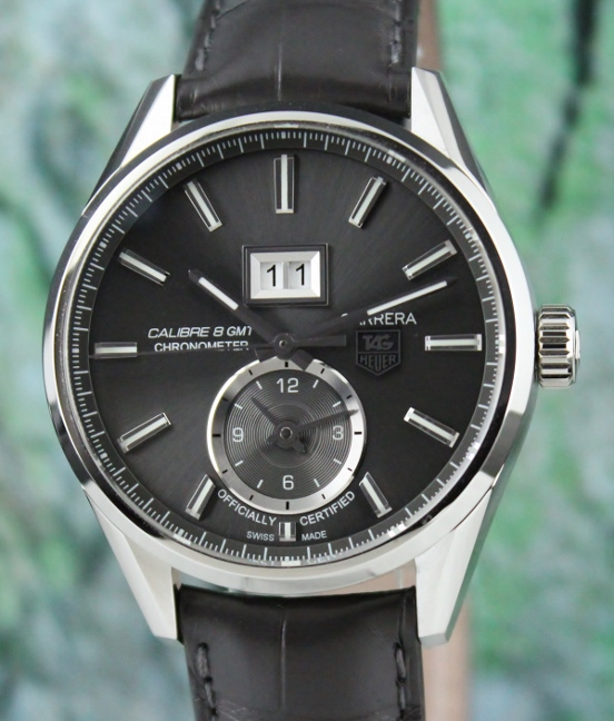 Like New Unpolished TAG Heuer Carrera Calibre 8 GMT Automatic Watch / WAR5012
