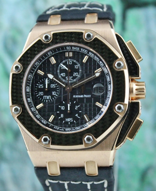 LIKE NEW AUDEMARS PIGUET 18K ROSE GOLD JUAN PABLO MONTOYA ROYAL OFF SHORE LIMITED EDITION 500 PIECES / 26030RO.00.D001IN.01