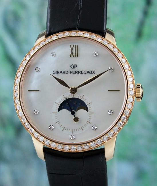 Girard Perregaux 18K Rose Gold 1966 Moonphase Automatic Watch / 49524
