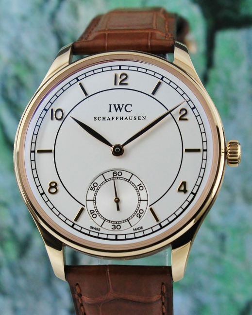 LIKE NEW UNPOLISHED IWC VINTAGE PORTUGUESE 18K ROSE GOLD MANUAL WINDING WATCH / IW544503