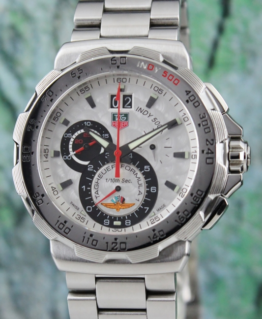 A STAINLESS STEEL TAG HEUER INDY 500 WATCH / CAH101A - Click Image to Close