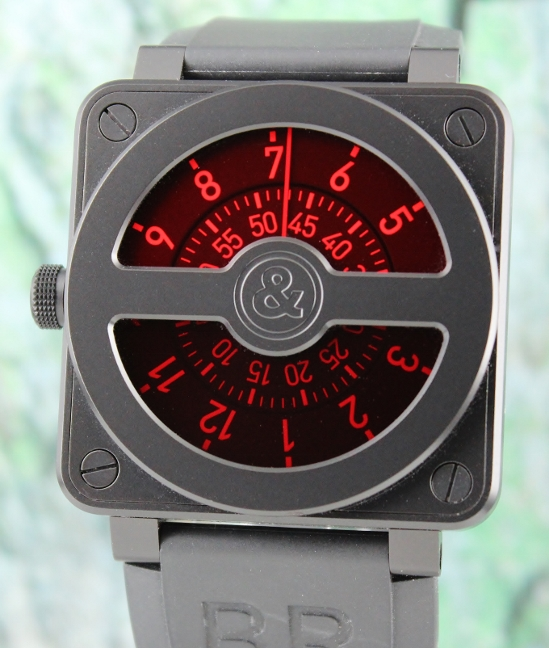 "LIKE NEW Bell & Ross Limited Edition 50 Pieces ""For Singapore"" / BR01-92-SC-SINGAPORE"