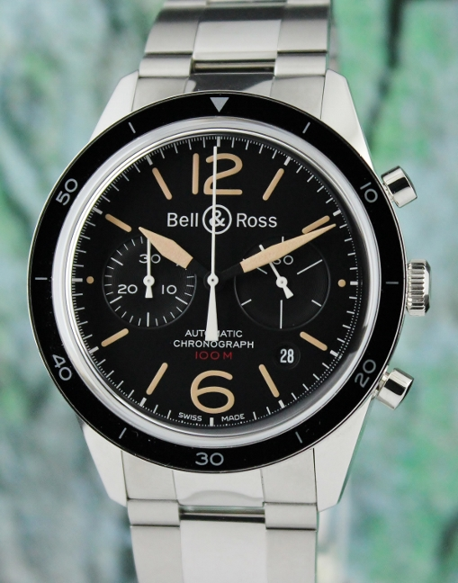UNWORN BELL & ROSS Stainless Steel Automatic Sport Heritage / BR 126-94