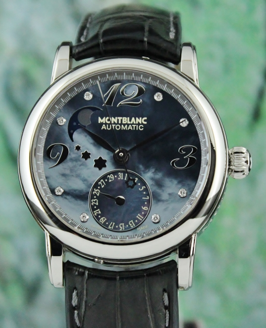 c96575de73b MONTBLANC STAR LADY SIZE AUTOMATIC MOON PHASE AUTOMATIC WATCH (Mont Blanc)