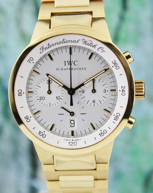 IWC 18K Yellow Gold GST Quartz Chronograph Watch / IW955701