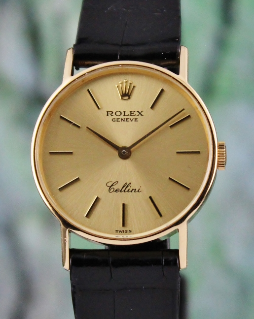 A ROLEX 18K YELLOW GOLD LADY SIZE MANUAL WINDING CELLINI / 4083