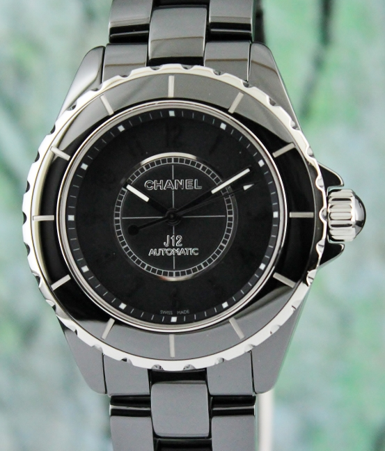 A CHANEL J12 CERAMIC AUTOMATIC WATCH / H3829