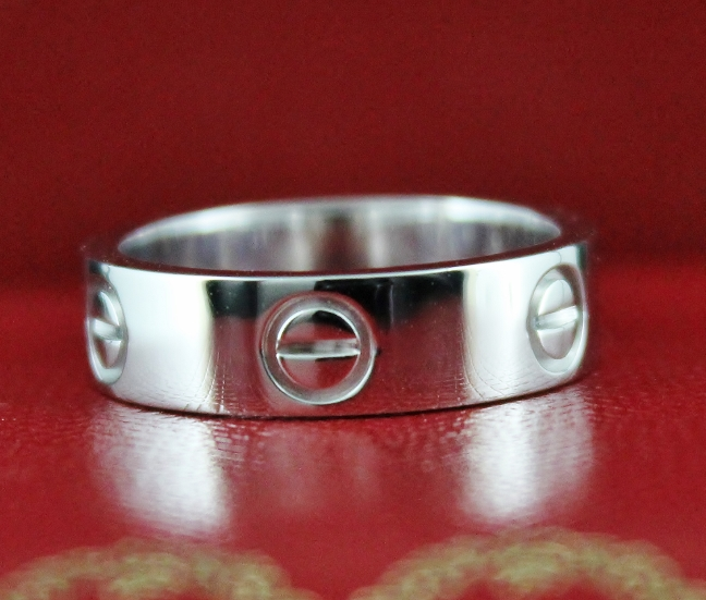 RARE CARTIER PLATINIUM PT 950 LOVE RING