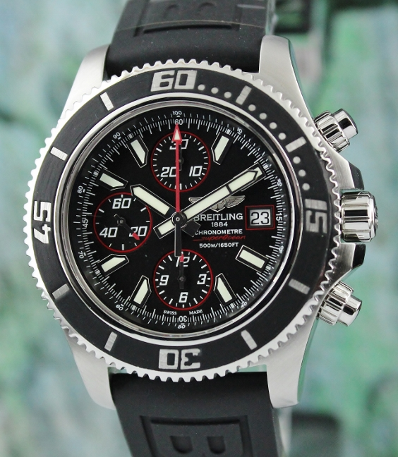 A BREITLING AUTOMATIC SUPEROCEAN CHRONOGRAPH II / A13341