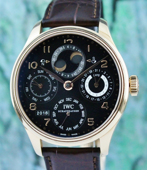Unpolished IWC 18K Rose Gold Portuguese Perpetual Calendar / IW502212 - Click Image to Close
