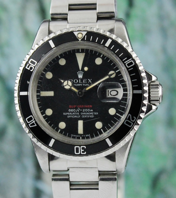 "A RARE ROLEX VINTAGE OYSTER PERPETUAL DATE ""RED SUB"" - 1680"